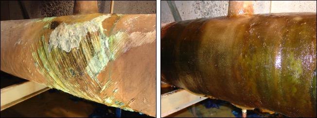 External Corrosion Repair of FRP Pipe