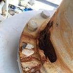 Cracked Pipe Repair - Before