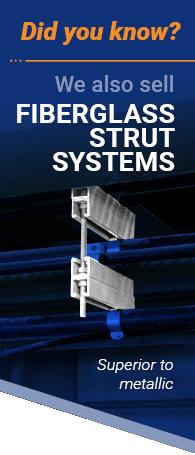 side banner fiberglass strut systems